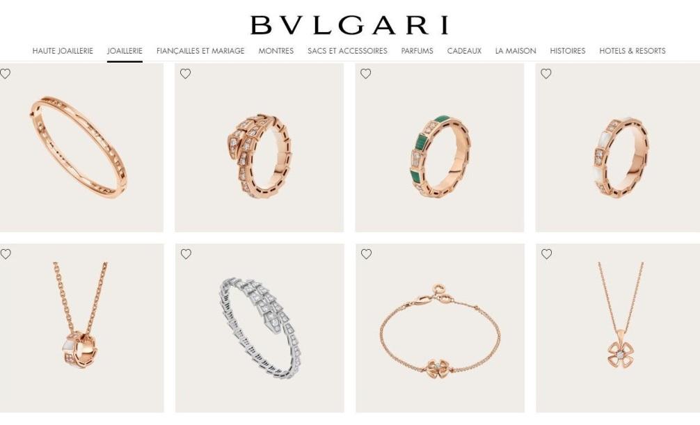 bijoux bvlgari