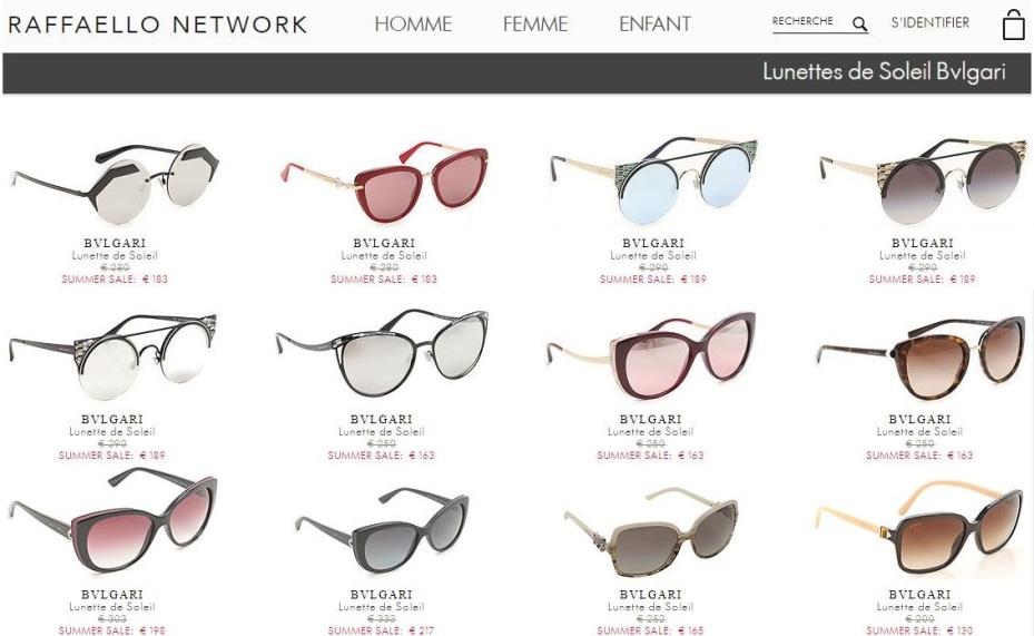 lunettes bvlgari sur raffaelo network